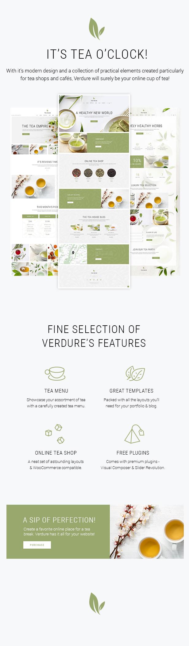Verdure - Organic Tea Shop Theme - 1